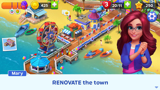 Match Town Makeover: Renovation Match 3 Puzzle apkdebit screenshots 17