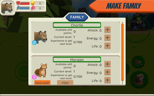 Cougar Simulator: Big Cat Family Game Apkfinish screenshots 3