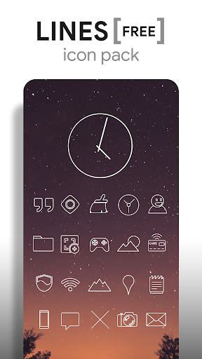 Lines - Icon Pack (Free Version) 3.2.8 Screenshots 1