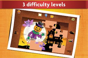 Jigsaw Puzzles Halloween Game for Kids
