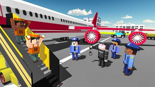 blocky vegas crime simulator:prisoner survival bus screenshot 1