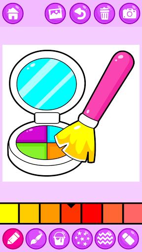 Beauty Makeup: Glitter Coloring Game for Girls 3.0 screenshots 2