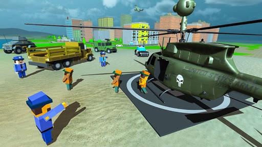 blocky vegas crime simulator:prisoner survival bus screenshot 2