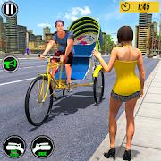 Bicycle Tuk Tuk Auto Rickshaw : New Driving Games