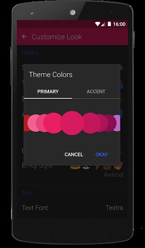 Textra SMS screenshots 1