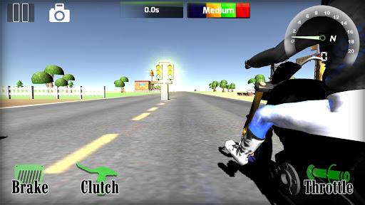 Motorbike  Online Drag Racing - Wheelie racing 3D screenshots 5