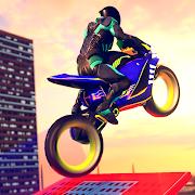 Light Bike Flying Stunts