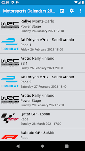 Motorsport Calendar 2021