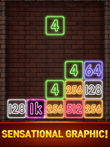 Drop Number : Neon 2048 apktram screenshots 14