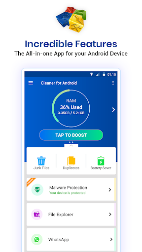 Cleaner For Android : Phone junk clean , optimizer 9.2.2.19 screenshots 1
