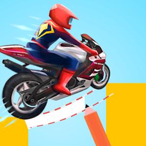 Super Hero Draw Moto: Spider Rider Track