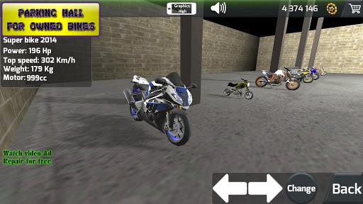 Motorbike  Online Drag Racing - Wheelie racing 3D screenshots 2