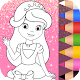 Princess Coloring Book Glitter & Girls Dress Up Apk