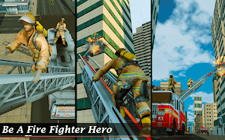 Flying Fire Truck Simulator-City Rescue Games 2020