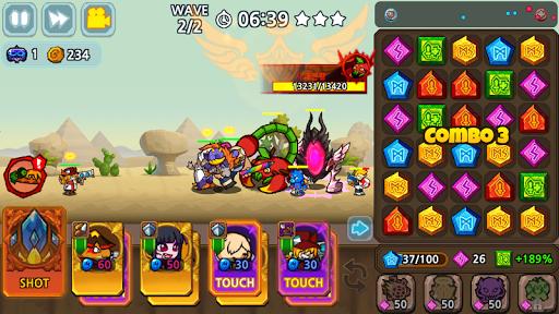 Puzzle & Defense: Match 3 Battle https screenshots 1