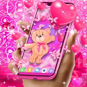 Teddy bear love hearts live wallpaper