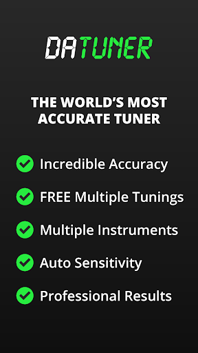 Guitar Tuner, Bass, Violin, Banjo & more | DaTuner 3.200 Screenshots 1