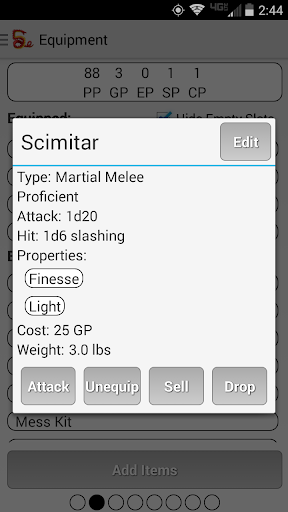 Squire - Character Manager 4.6.8 screenshots 4
