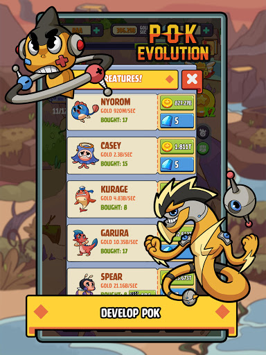 Pok Evolution: Clicker Planet - Idle Merge Game 1.3.0 screenshots 12