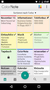 ColorNote Notepad Notizen Screenshot