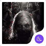 Horror Dark Death Blood-APUS Launcher Theme