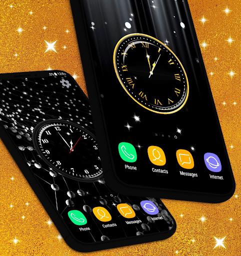 Black HD Clocks Live Wallpaper ❤️ Clock Wallpapers  screenshots 1