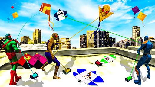 Télécharger Gratuit Superhero Basant Festival: Kite flying games 2021 APK MOD (Astuce) screenshots 2