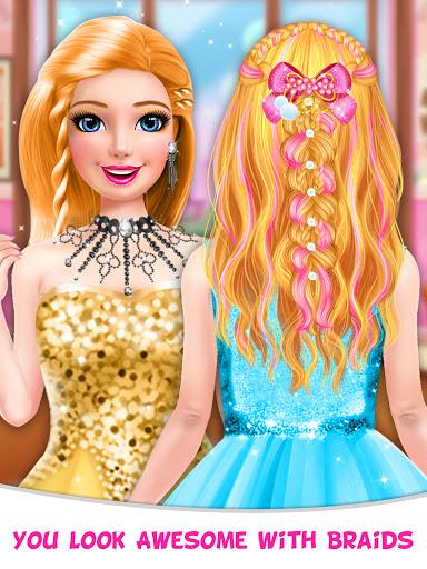 Braided Hairstyle Salon: Make Up And Dress Up  screenshots 17