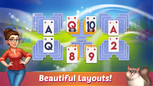 Solitaire Pet Haven - Relaxing Tripeaks Game apkpoly screenshots 17