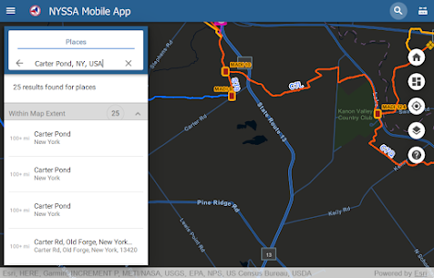New York State Snowmobile Association Map 20-21 For Android 8