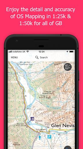 OS Maps: Explore hiking trails & walking routes  screenshots 1
