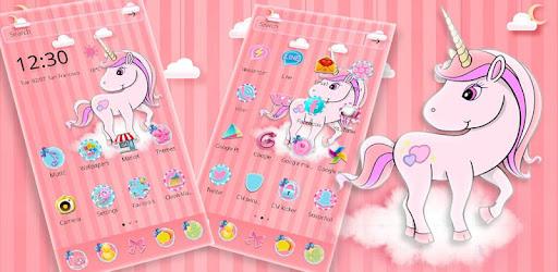 Pelangi Unicorn Tema Poni Kecil Aplikasi Di Google Play