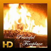 Peaceful Fireplace HD  Icon