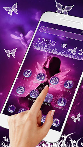 purple fairy tale princess theme screenshot 3