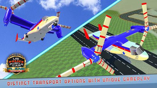 US Police Muscle Car Cargo Plane Flight Simulator 4.7 screenshots 4