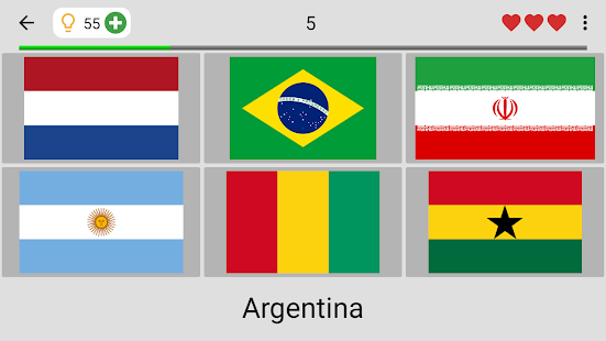 Flags of All Countries of the World: Guess-Quiz