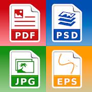 Photo & Image converter: jpg pdf eps psd png bmp
