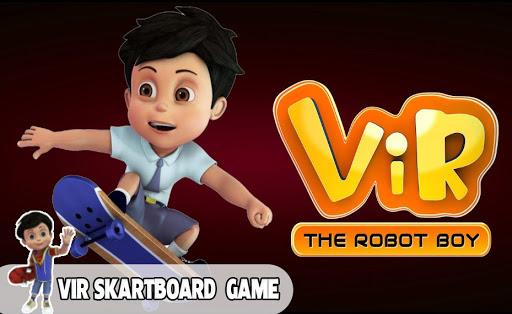 Subway Vir The Robot Boy Skateboard - Endless Rush apkpoly screenshots 2
