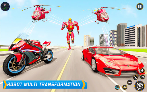 Helicopter Robot Car Game – Bike Robot games 2021  screenshots 1
