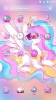 lovely rainbow unicorn-APUS Launcher theme