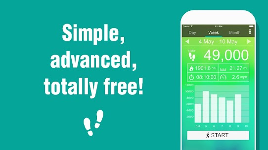 Pedometer – Step Counter 5.36 MOD for Android 1