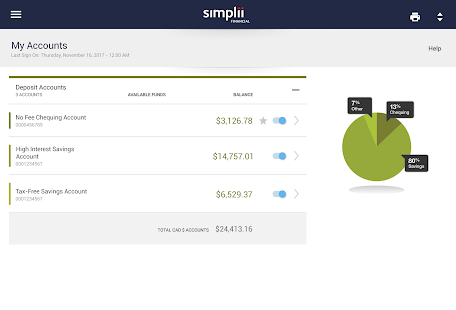 Simplii Financial Screenshot