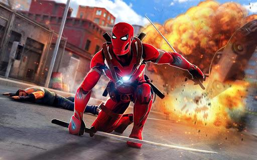 Superhero Ninja Battle: Streets Fighting Robot screenshots 7