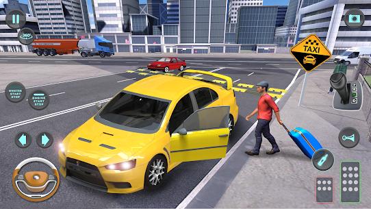 City Taxi Driving simulator: PVP Cab Games 2020 1