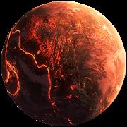 3D Flame doom planet live wallpaper