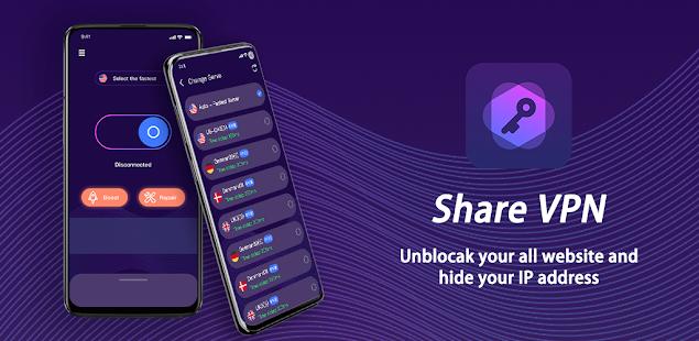 Image For Share Vpn-Faster&Safer, Unlimited Free vpn Versi 1.0.0 3