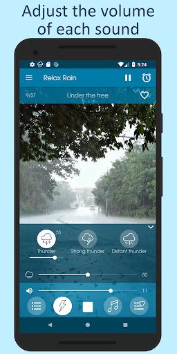 Relax Rain - Rain sounds: sleep and meditation android2mod screenshots 7