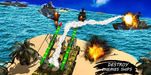 missile launcher battleship:island naval attack screenshot 2