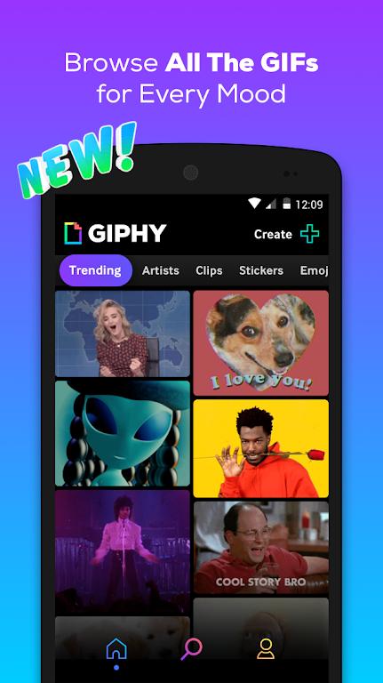 GIPHY: GIF & Sticker Keyboard & Maker  poster 0