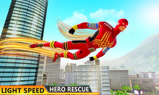 Flying Hero Robot Transform Car: Robot Games 4.4 screenshots 1